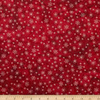 Maywood Studio Sheltering Tree Flowers and Bees Red/Cream
