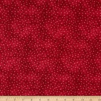 Maywood Studio Sheltering Tree Sprinkled Dots Red/Natural