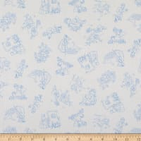 Maywood Studio Story Time Nursery Rhyme Toile Blue