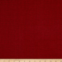 Maywood Studio Woolies Flannel Basket Weave Dark Red