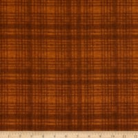 Maywood Studio Woolies Flannel Windowpane Orange