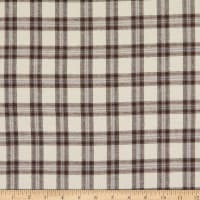 Yarn Dyed Flannel Plaid Bolt, 15 Yds Cream, Brown