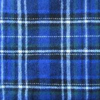 Yarn Dyed Flannel Plaid (Bolt, 15 Yds) Blue