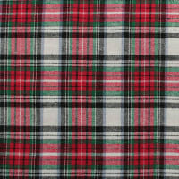 Yarn Dyed Flannel Plaid (Bolt, 15 Yds) Red/White/Black