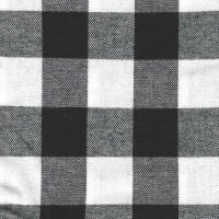 "1 1/4"" Check Flannel (Bolt, 15 Yds) Black/White"