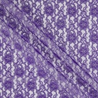 Raschel Allover Lace Bolt, 15 Yds Purple