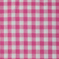 Gingham Check Bolt, 20 Yds Fucshia/White