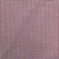 Gingham Check Bolt, 20 Yds Berry/White