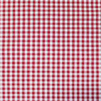 Gingham Check Bolt, 20 Yds Red/White