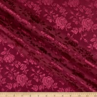 Satin Jacquard Bolt, 16 Yds Burgundy