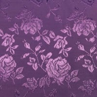 Satin Jacquard Bolt, 16 Yds Purple