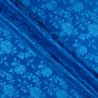 Satin Jacquard Bolt, 16 Yds Royal
