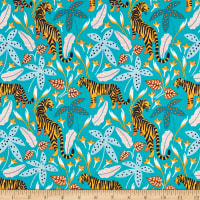 Nerida Hansen Organic Tropical Lush Tigers Pastel Multi