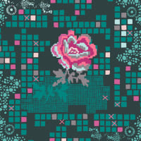 Art Gallery Grid Rose Circuit Teal