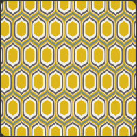 Art Gallery Urban Mod Stenciled Retro Gold