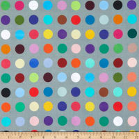 """Whistler Studios 108"""" Quilt Back Many Colored Dots Grey"""
