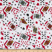 Windham Fabrics Man Cave Playing Cards Red