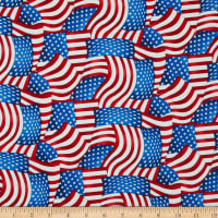 Henry Glass American Truckers Packed American Flag Red