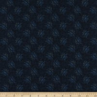 Henry Glass Scrap Happy Lacey Design Navy