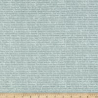 Henry Glass Scrap Happy Happy Text Light Blue