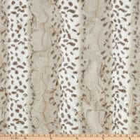 Shannon Minky Luxe Cuddle Arctic Lynx Ice Taupe