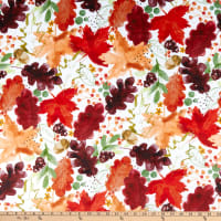 Shannon Studio Digital Minky Cuddle Autumn Leaves Harvest