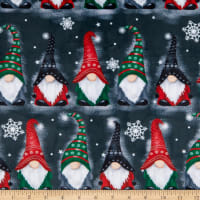 Shannon Studio Digital Minky Cuddle Gnomes Ash