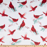 Shannon Hoffman Digital Minky Cuddle Frost Flight Cardinal