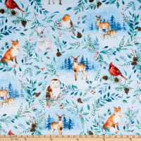 Shannon Hoffman Digital Minky Cuddle Woodland Winter