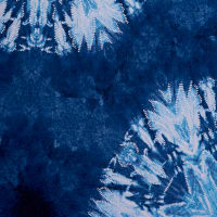 Fabtrends Ity With Puff Tie Dye Medallion Indigo