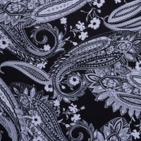 Fabtrends Ity Paisley Black White