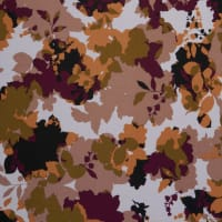 Fabtrends Ity Blurred Floral Olive Wine