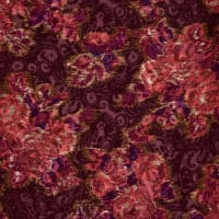 Fabtrends Satin Jacquard Floral Wine