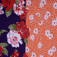 Fabtrends DTY Floral Plum Orange