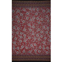 Fabtrends Ity Double Border Paisley Light Rust Gold