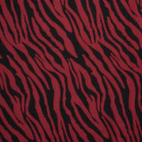 Fabtrends Jacquard Zebra Black Red