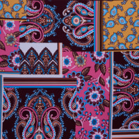 Fabtrends Ity Patchwork Fuschia Gold