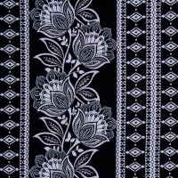 Fabtrends Ity Damask Black Ivory