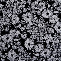 Fabtrends DTY Ditzy Floral Black White