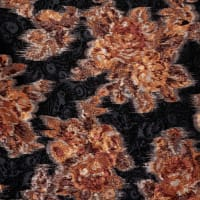 Fabtrends Satin Jacquard Floral Neutral Rust