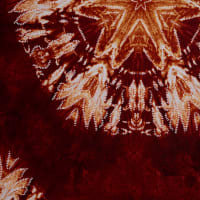 Fabtrends Ity With Puff Tie Dye Medallion Rust Gold