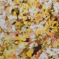 Fabtrends Sunrise Knit Floral Yellow Taupe