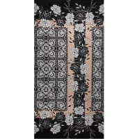 Fabtrends Ity Ethnic Floral Black Peach
