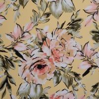 Fabtrends Koshibo Floral Bouquet Yellow