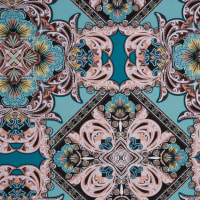 Fabtrends Ity With Puff Damask Aqua Blush