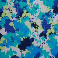Fabtrends Ity Blurred Floral Blue