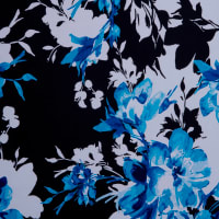 Fabtrrends Ity Spring Floral Blue