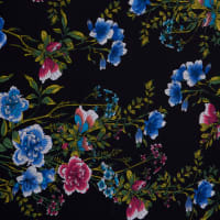 Fabtrends Ity Floral Black Bright