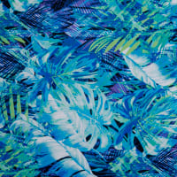 Fabtrends DTY Tropical Fern Blue