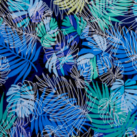 Fabtrends Ity With Puff Leaf Ferns Blue